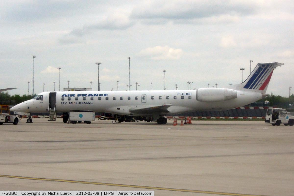 F-GUBC, 2002 Embraer ERJ-145LR (EMB-145LR) C/N 145556, At Charles de Gaulle
