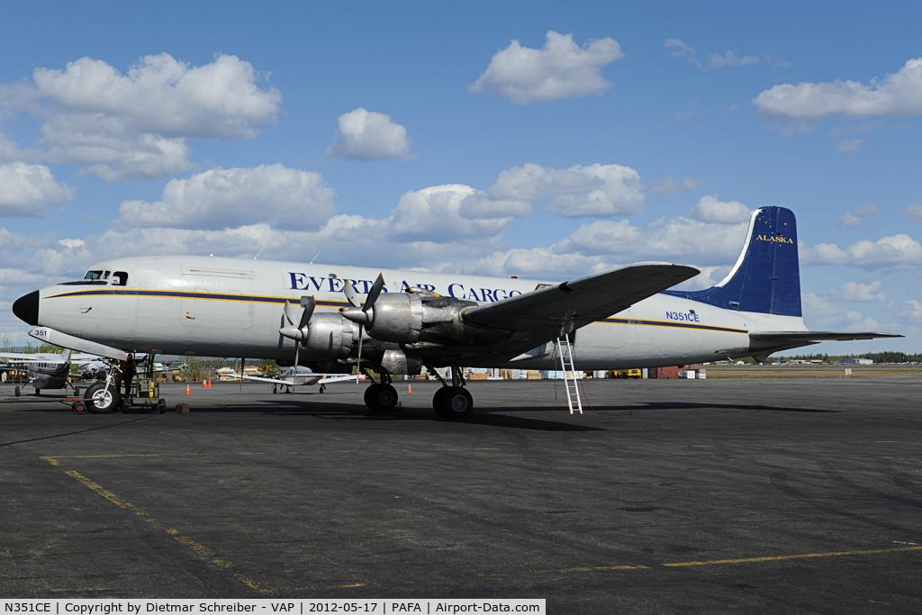 N351CE, 1954 Douglas C-118A Liftmaster (DC-6A) C/N 44599, Everts Air DC6