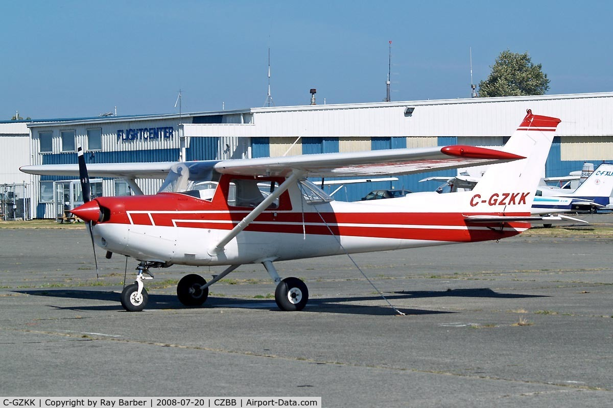 C-GZKK, 1977 Cessna 152 C/N 15280305, Seen here at Boundary Bay~C.