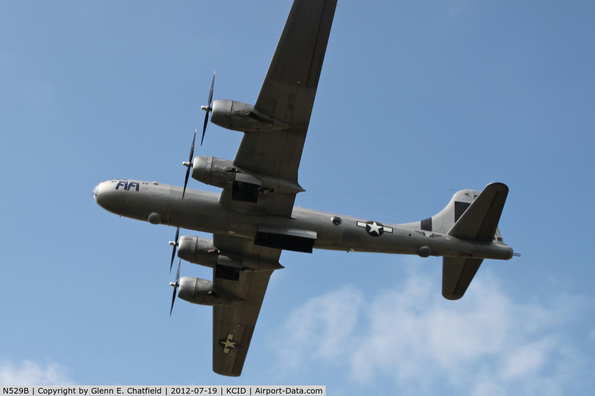 N529B, 1944 Boeing B-29A Superfortress C/N 11547, Departing runway 27