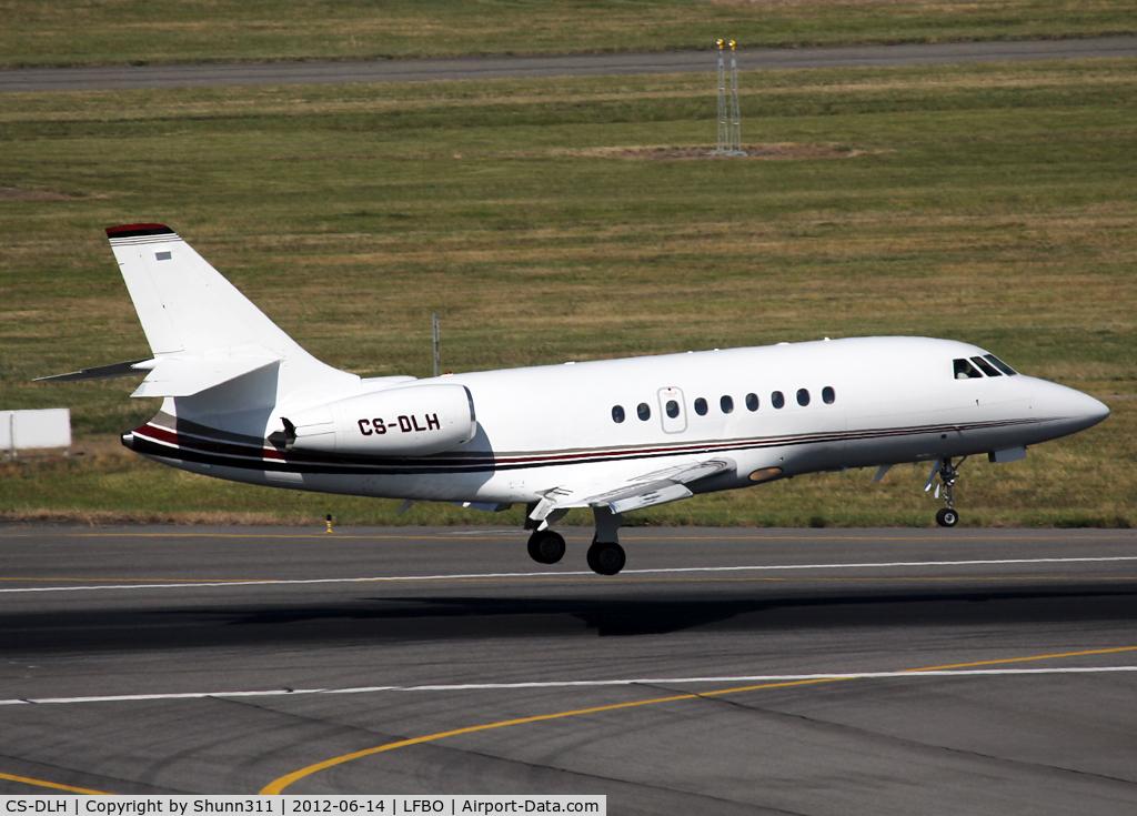 CS-DLH, 2007 Dassault Falcon 2000EX C/N 149, Landing rwy 14R