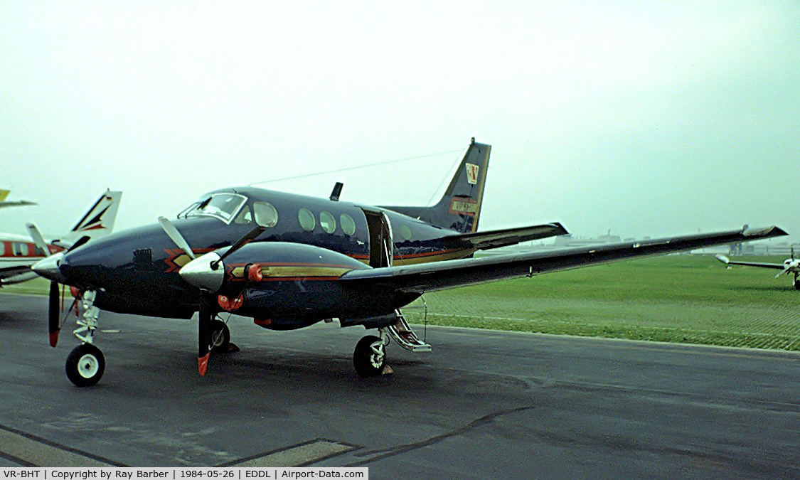VR-BHT, 1968 Beech B90 King Air C/N LJ-352, Taken from a slide