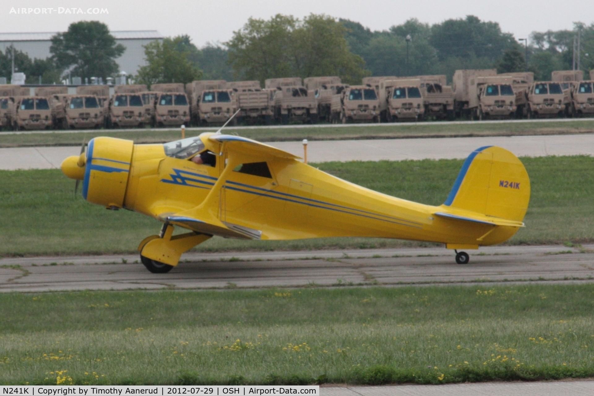 N241K, 1939 Beech D17S Staggerwing C/N 287, Departing Airventure 2012
