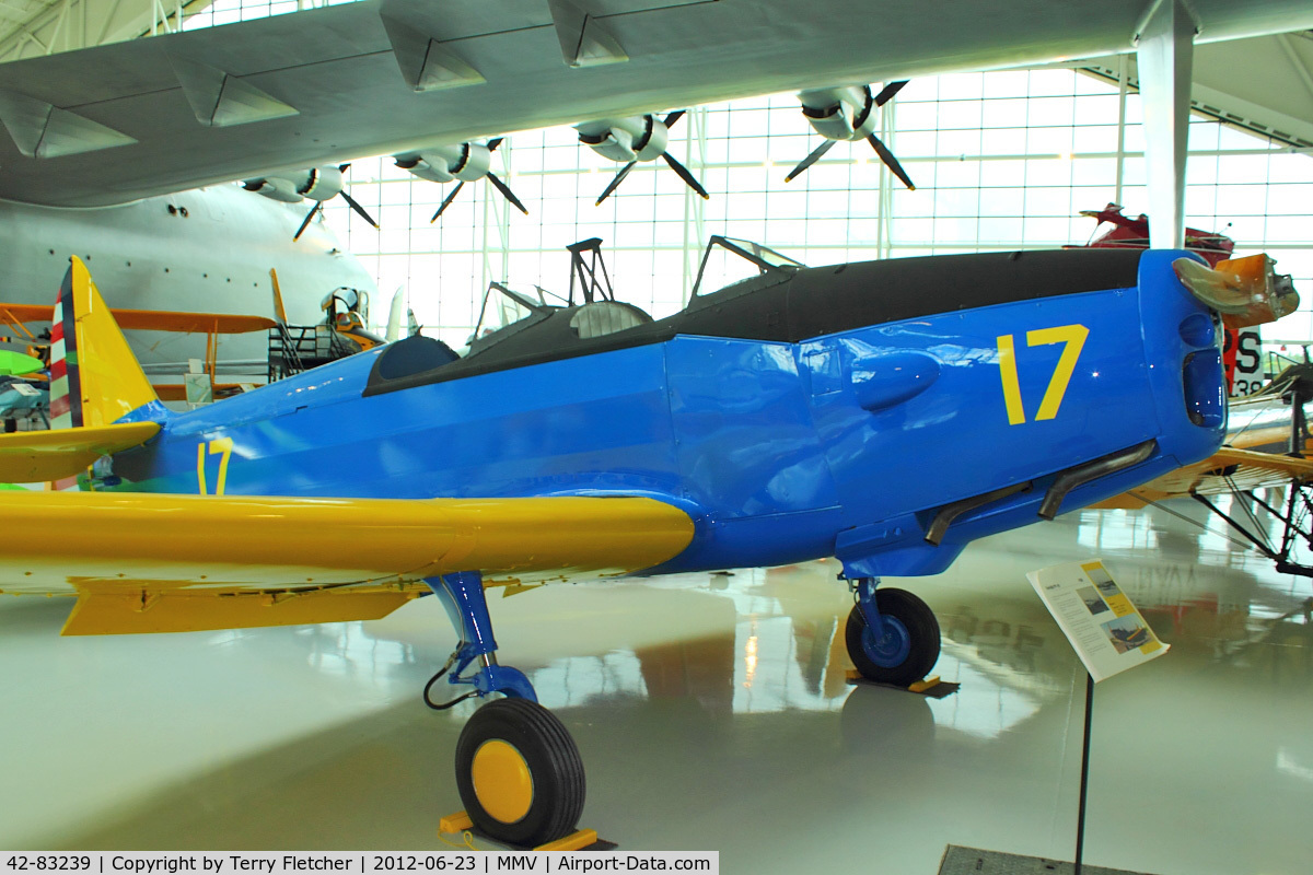 42-83239, 1943 Fairchild PT-19B C/N T43-5826, At Evergreen Air and Space Museum - former Military Serial provided by Museum Curator