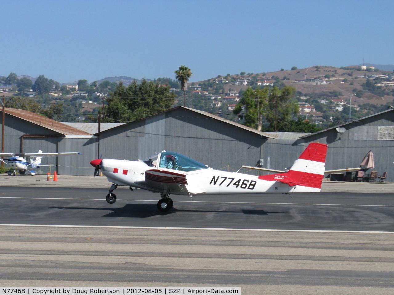 N7746B, 1992 FFA AS-202/18A-4 Bravo C/N 238, 1992 Ffa Fleugzeugwerke Altenrhein Ag AS202/18A4 BRAVO, Lycoming AEIO-360 Aerobatic, landing roll Rwy 22. ONLY ONE REGISTERED IN THE USA! return visitor. See more photos.