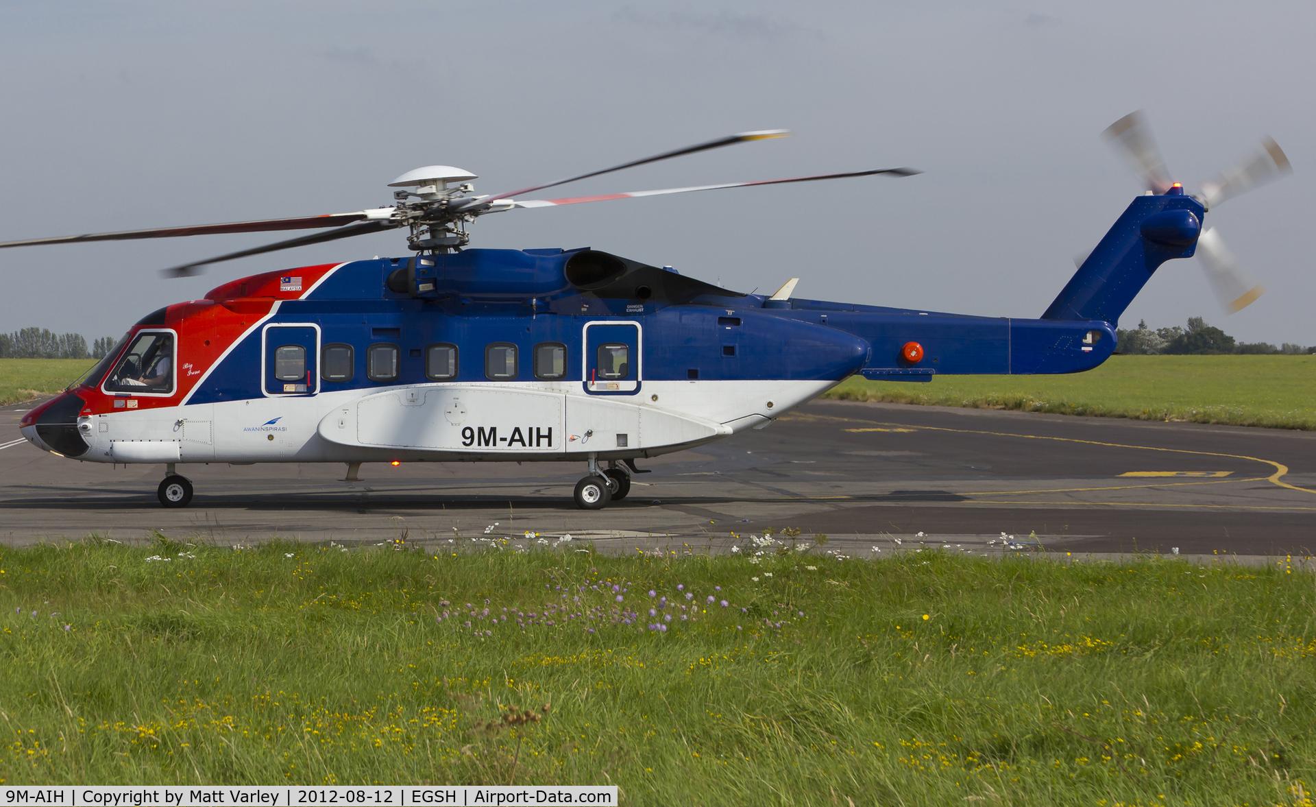 9M-AIH, 2005 Sikorsky S-92A C/N 920024, Arriving at SaxonAir from Den Helder.