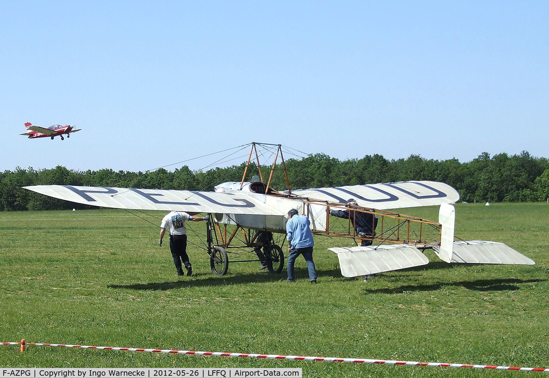 F-AZPG, Bleriot XI-2 Replica C/N SA-29, Bleriot XI-2 Replica at the Meeting Aerien 2012, La-Ferte-Alais