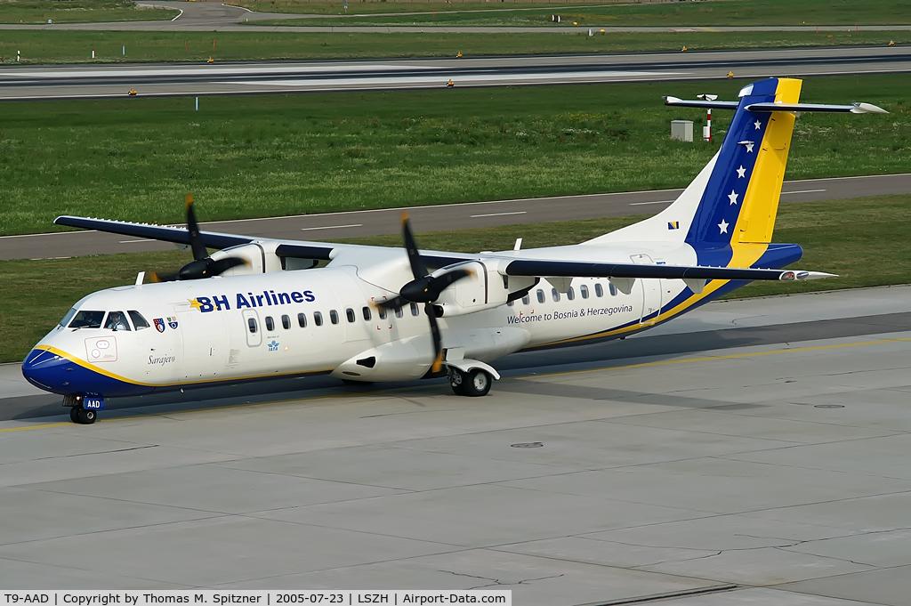 T9-AAD, 1995 ATR 72-212 C/N 464, BH Airlines