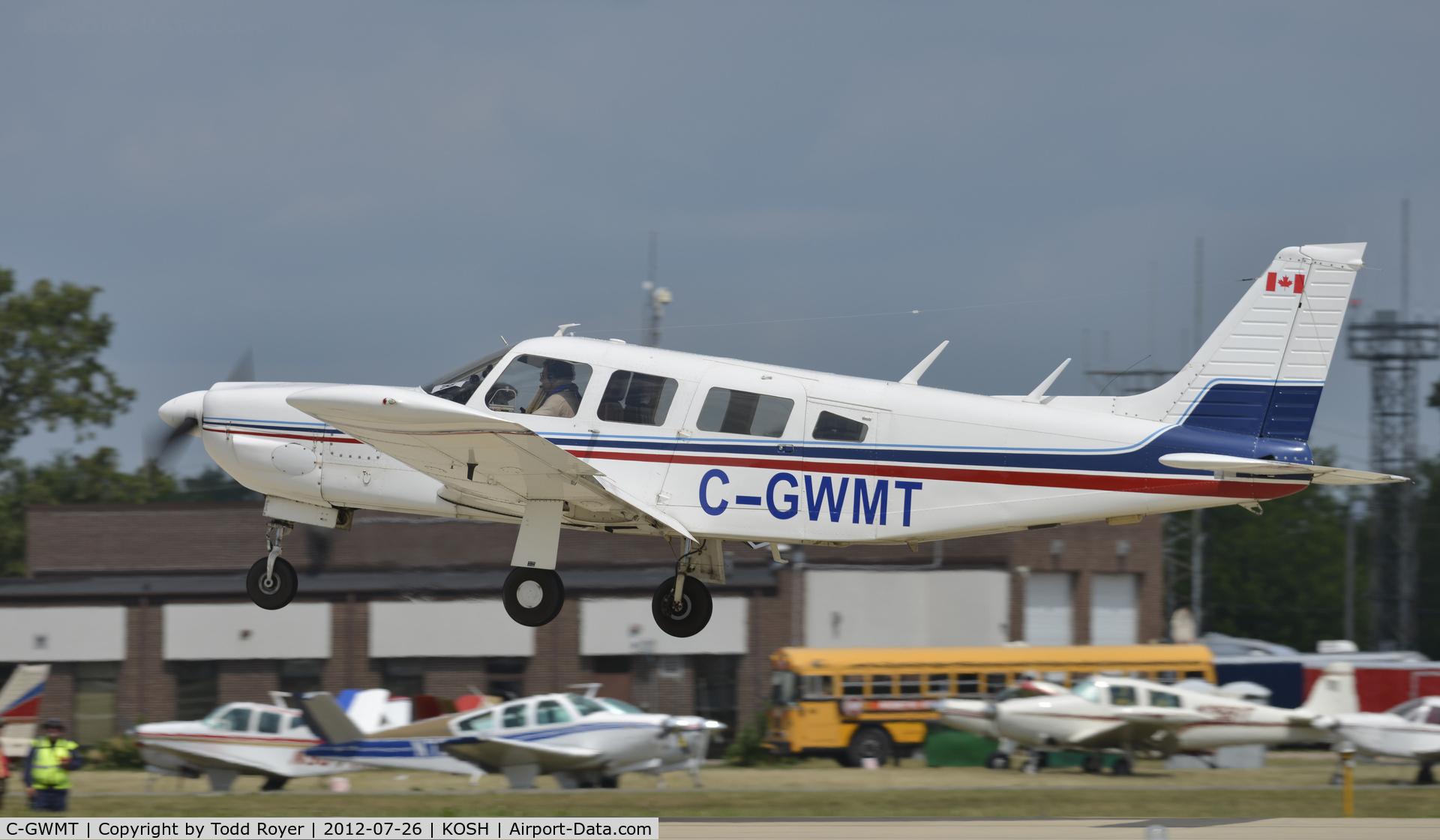 C-GWMT, 1976 Piper PA-32R-300 Cherokee Lance C/N 32R-7680100, Departing Airventure on rwy 27