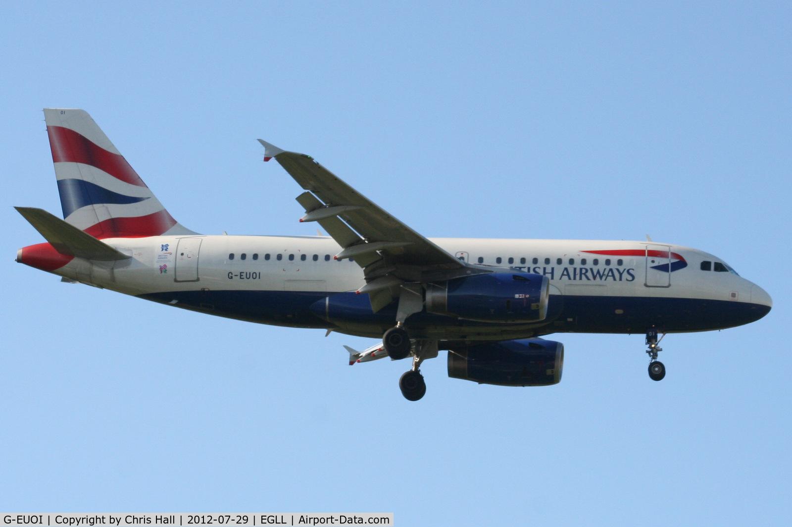 G-EUOI, 2001 Airbus A319-131 C/N 1606, British Airways