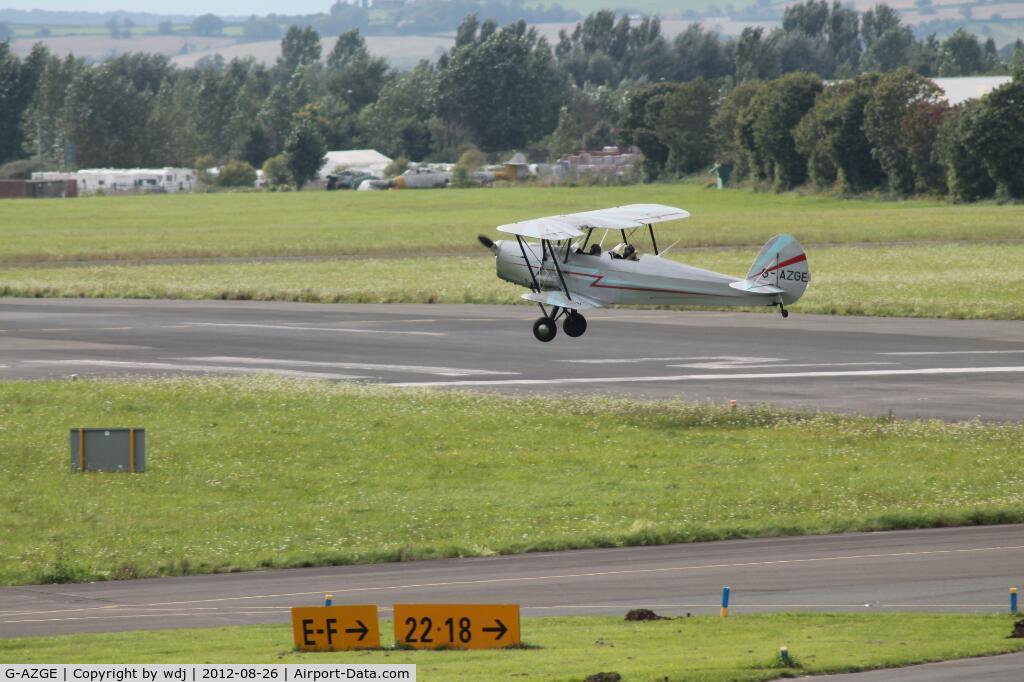 G-AZGE, 1947 Stampe-Vertongen SV-4C C/N 576, Approaching Gloucestershire airport, UK