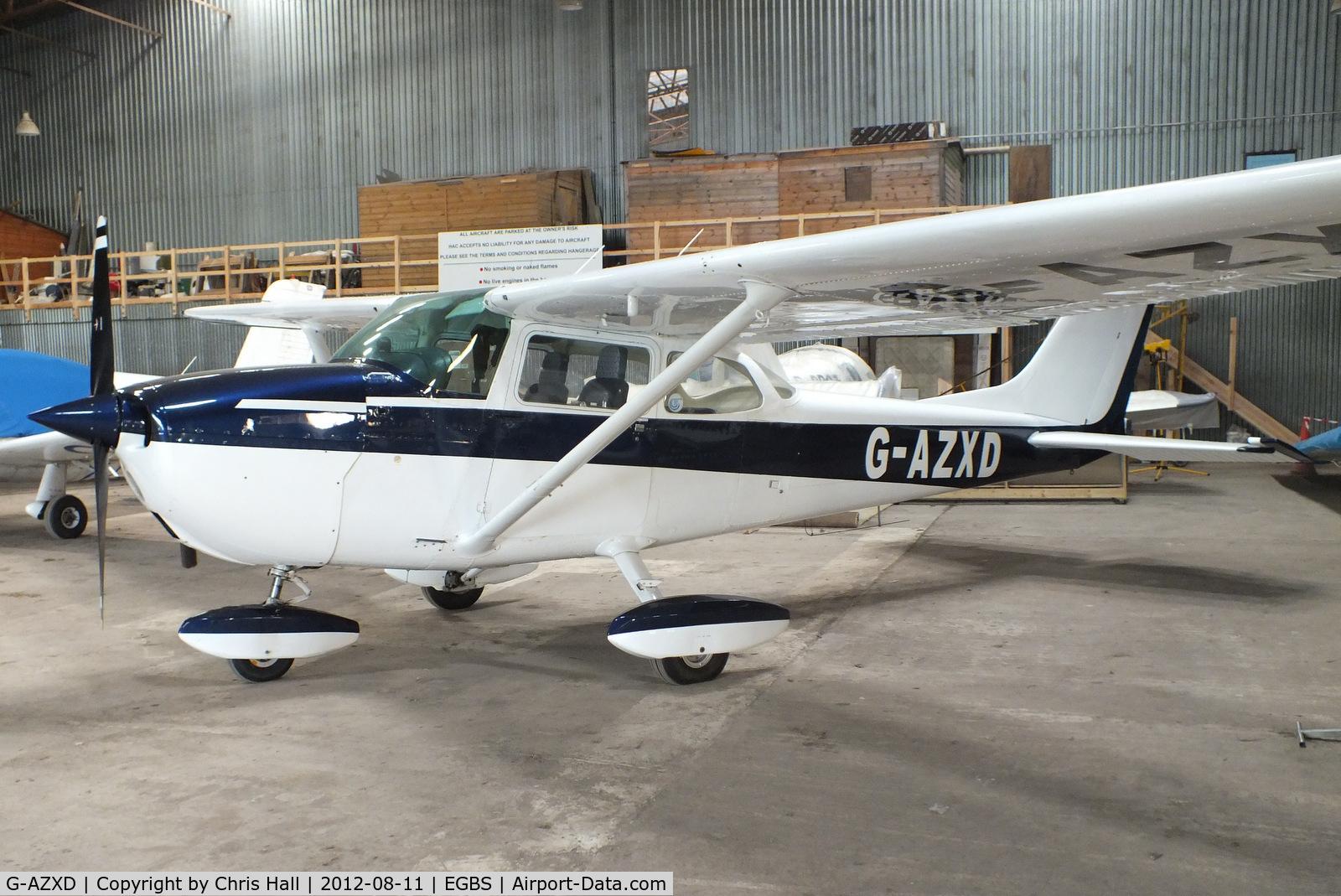 G-AZXD, 1972 Reims F172L Skyhawk C/N 0878, at Shobdon Airfield, Herefordshire