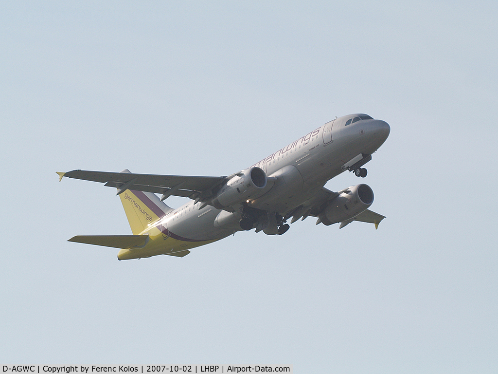 D-AGWC, 2006 Airbus A319-132 C/N 2976, Ferihegy