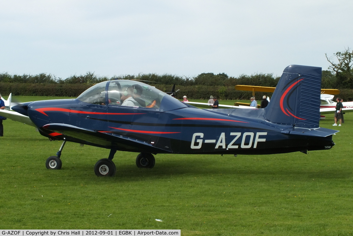 G-AZOF, 1972 AESL Glos-Airtourer Super 150/T5 C/N A549, at the at the LAA Rally 2012, Sywell