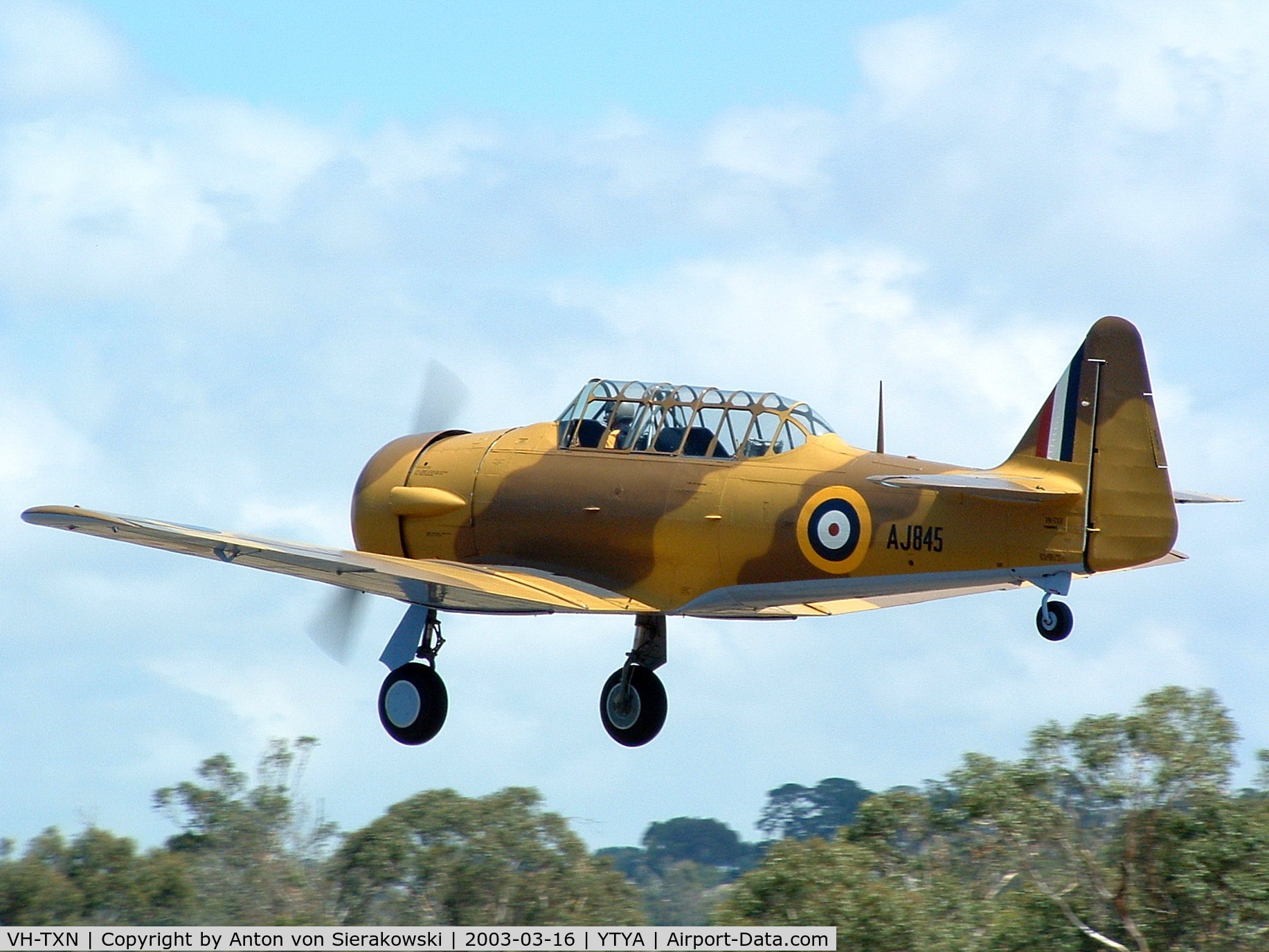 VH-TXN, 1943 Noorduyn AT-16 Harvard IIB C/N 14A-1106, VH-TXN @ YTYA Tyabb 2003 PAC Air Show