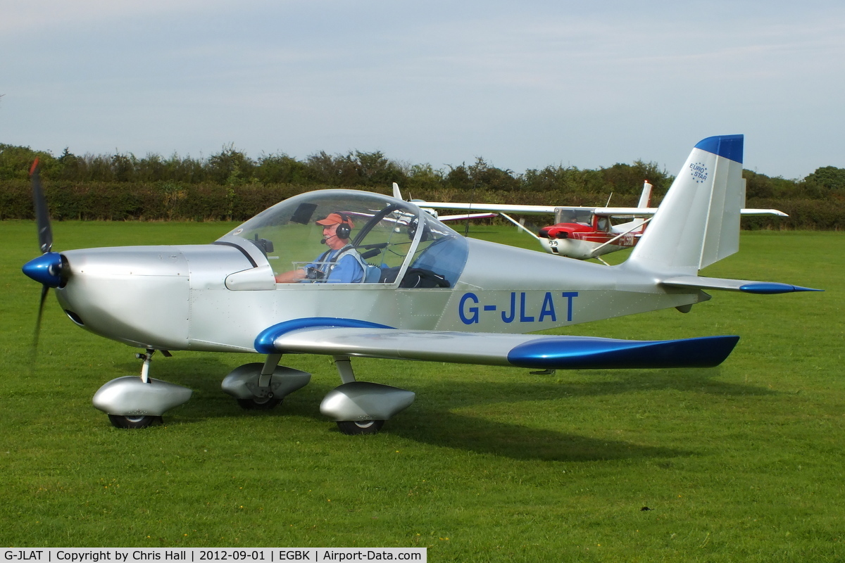 G-JLAT, 2003 Aerotechnik EV-97 Eurostar C/N PFA 315-14068, at the at the LAA Rally 2012, Sywell