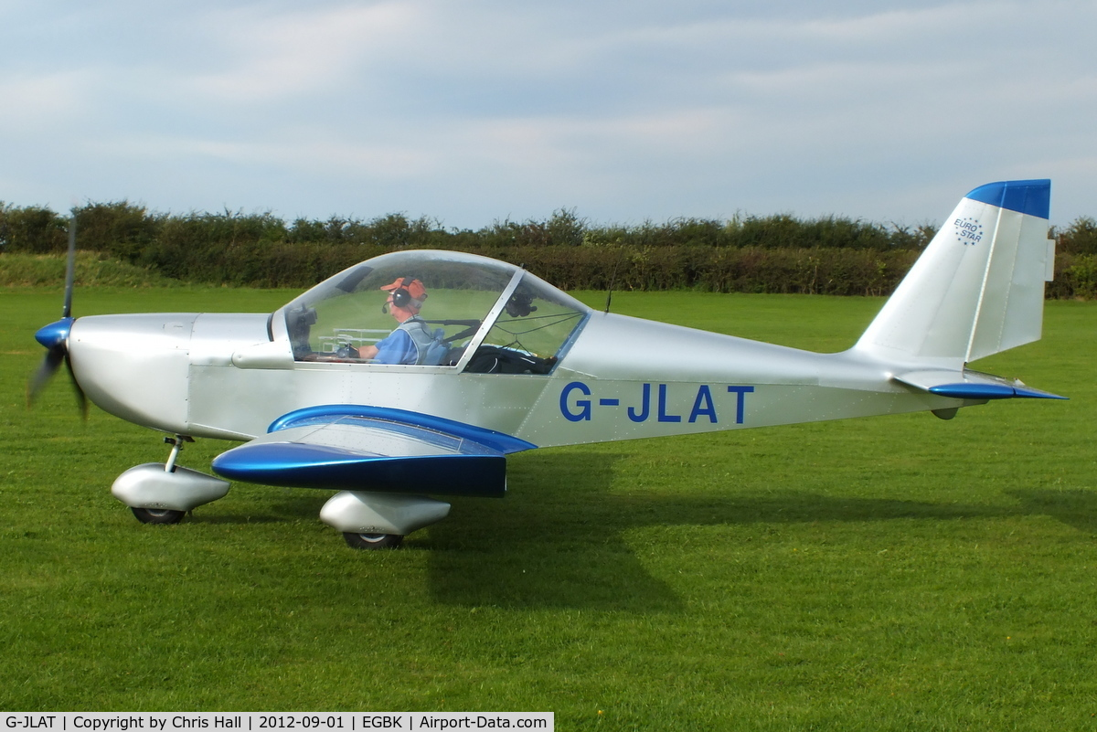 G-JLAT, 2003 Aerotechnik EV-97 Eurostar C/N PFA 315-14068, at the at the LAA Rally 2012, Sywell