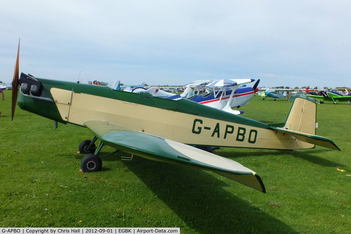 G-APBO, 1960 Druine D-5 Turbi C/N PFA 229, at the at the LAA Rally 2012, Sywell