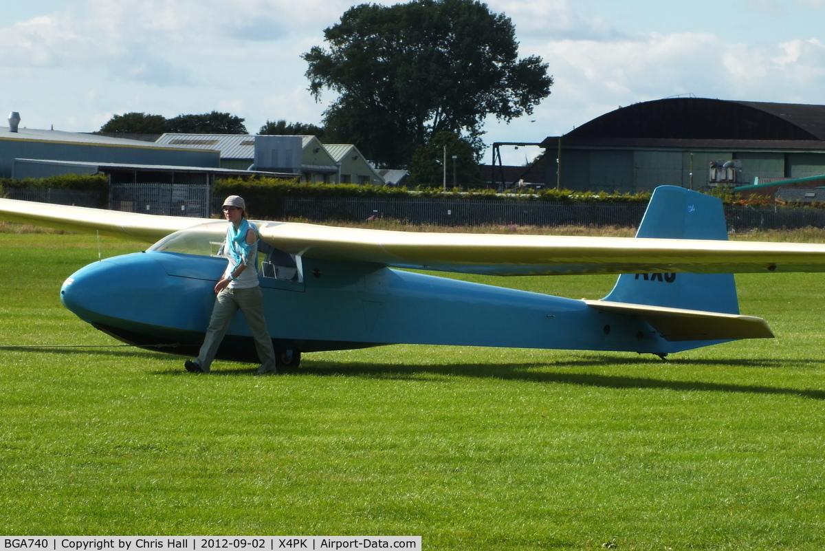 BGA740, 1956 Slingsby T-42B Eagle 2 C/N 994, Wolds Gliding Club at Pocklington Airfield