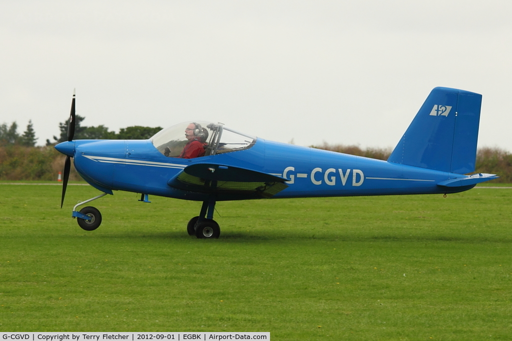 G-CGVD, 2011 Vans RV-12 C/N LAA 363-15005, A visitor to 2012 LAA Rally at Sywell