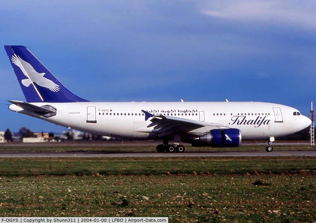 F-OGYS, 1994 Airbus A310-324 C/N 467, Landing rwy 14R