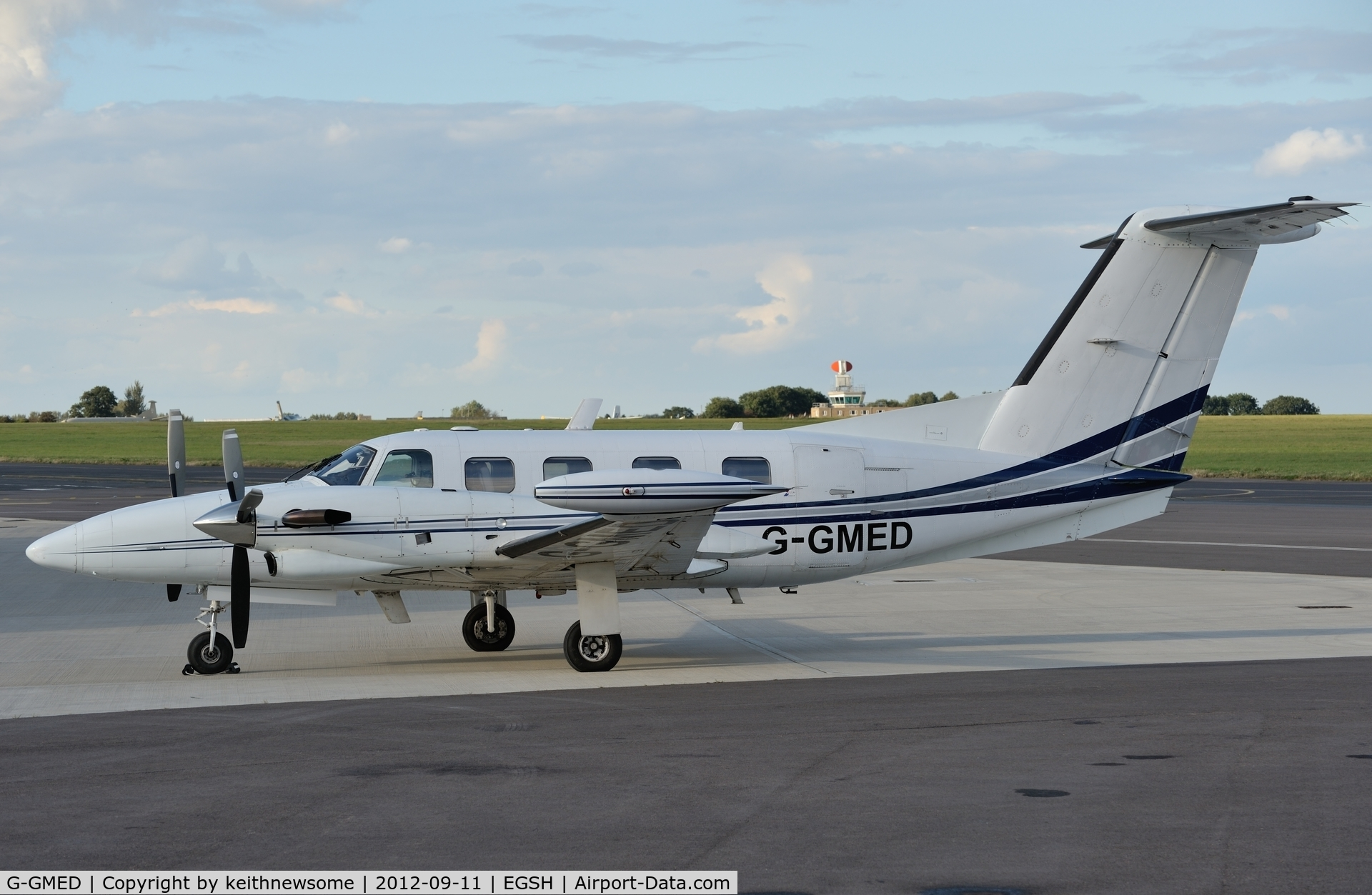 G-GMED, 1990 Piper PA-42-720 Cheyenne III C/N 42-5501050, Third medivac within two days !!