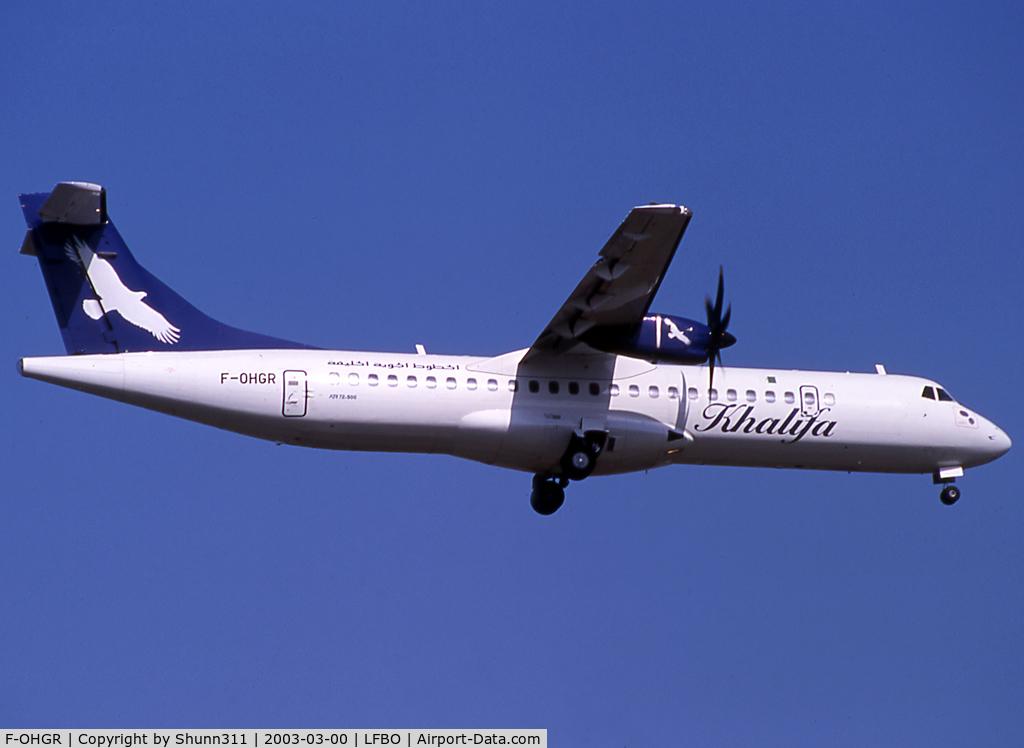 F-OHGR, 2002 ATR 72-212A C/N 684, Landing rwy 14R