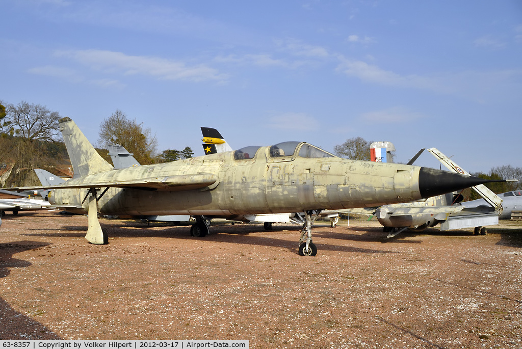 63-8357, Republic F-105F Thunderchief C/N F134, at Savigny-les-Beaune