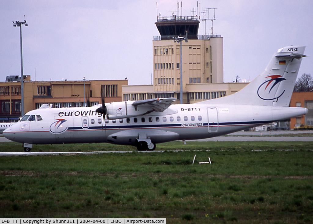 D-BTTT, 1999 ATR 42-500 C/N 603, Lining up rwy 32R for departure...