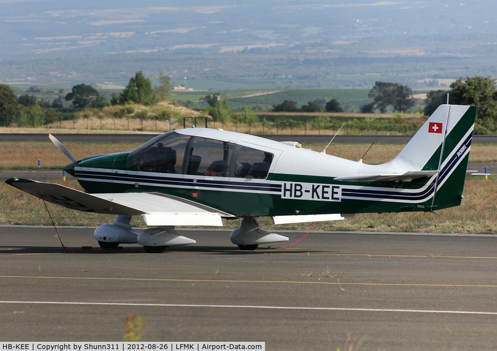 HB-KEE, 1995 Robin DR-400-180 Regent C/N 2290, Parked at the Airclub