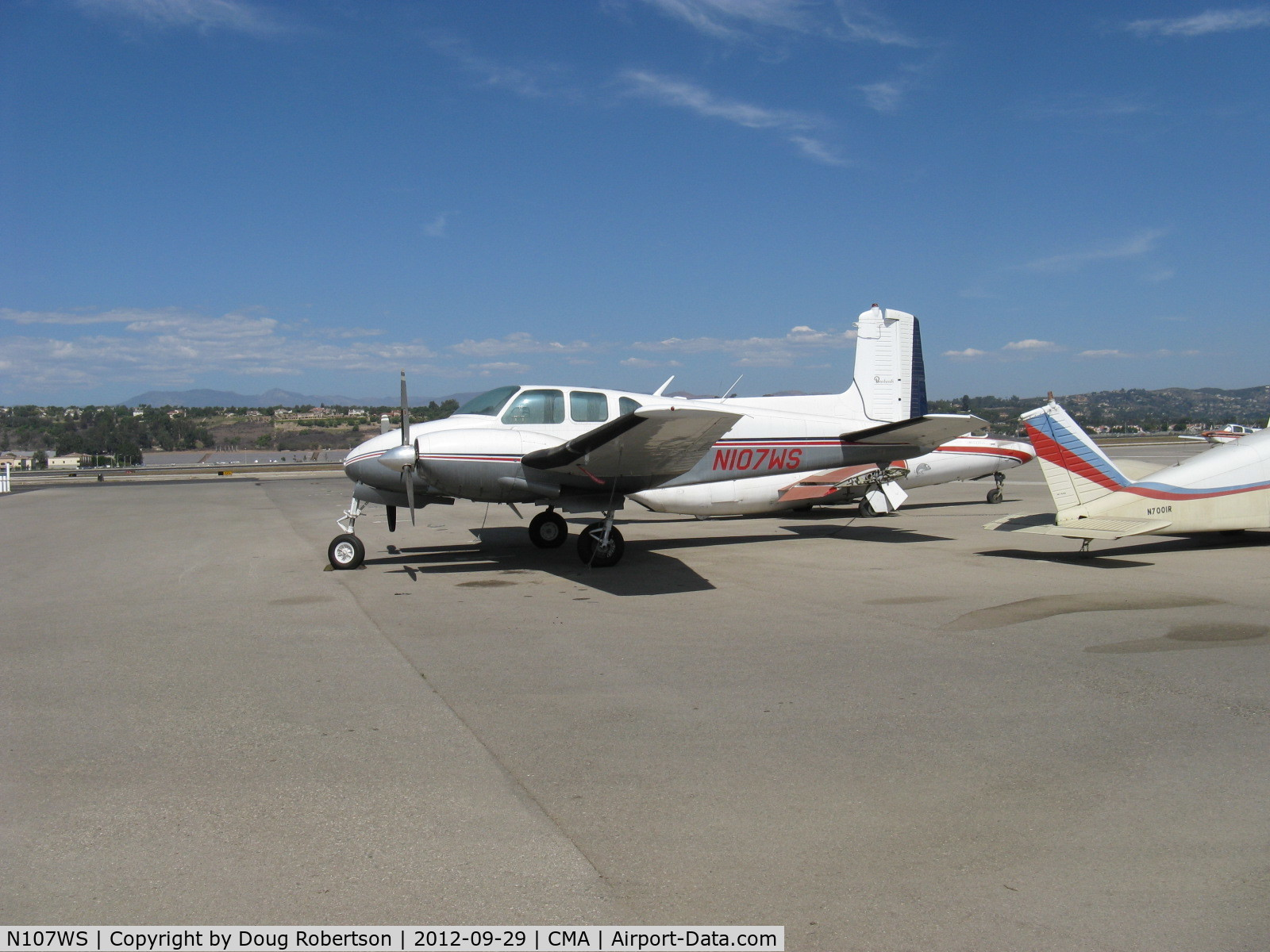 N107WS, 1959 Beech G50 C/N GH-107, 1959 Beech G50 TWIN BONANZA, two Lycoming HIO-360s listed but originally equipped with two Lycoming GSO-480-B1B6 340 Hp geared engines. The HIOs are only 190 Hp each.