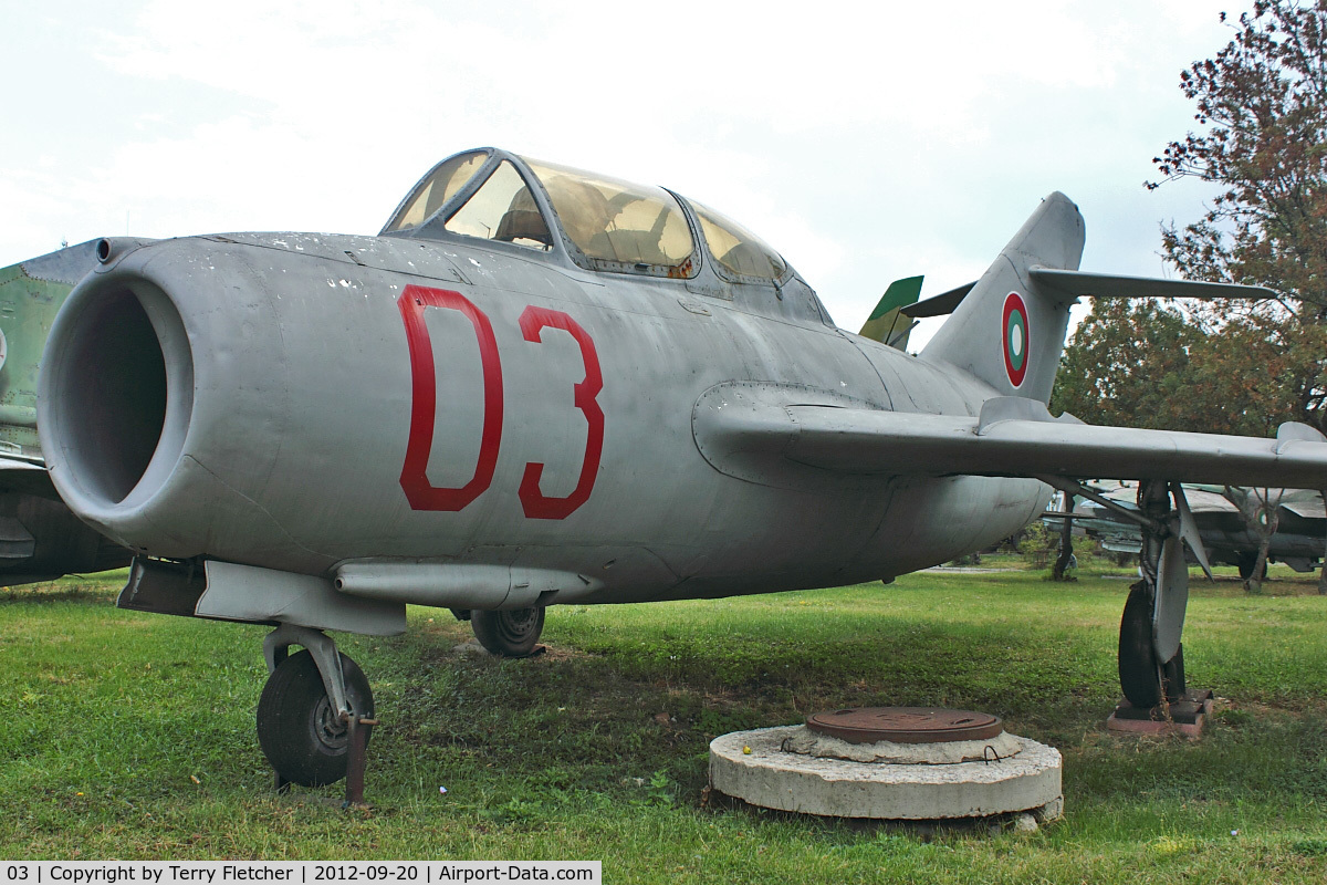 03, Mikoyan-Gurevich MiG-15UTI C/N Not found 03, Exhibited at Military Museum in Sofia