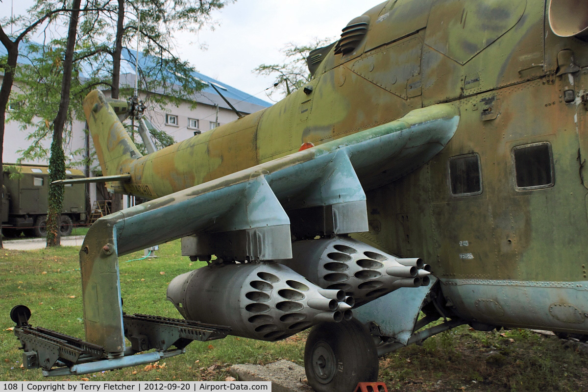 108, Mil Mi-24D Hind D C/N U5089, Exhibited at Military Museum in Sofia