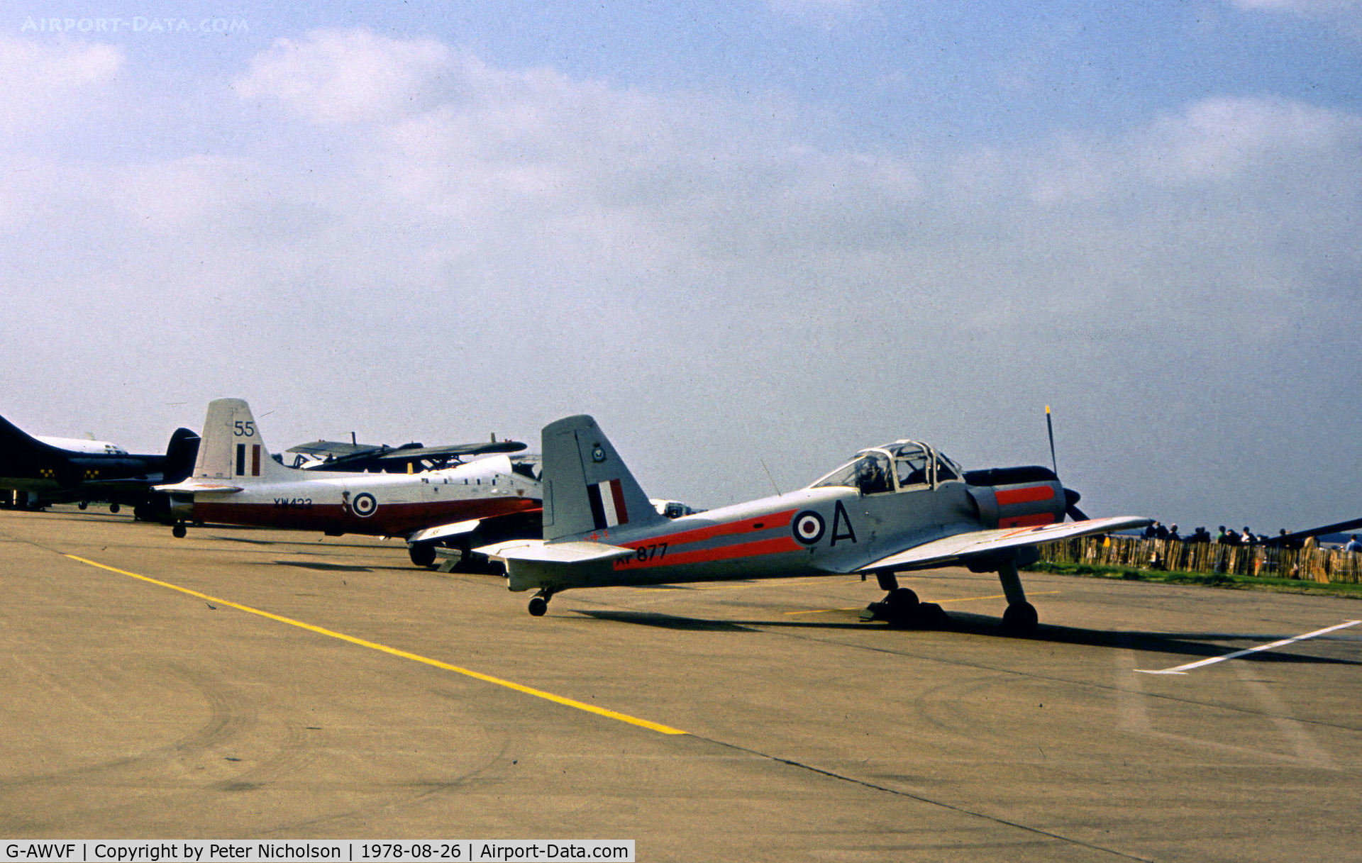 G-AWVF, 1955 Percival P-56 Provost T.1 C/N PAC/F/375, Provost T.1 as G-AWVF on display at the 1978 RAF Binbrook Airshow.