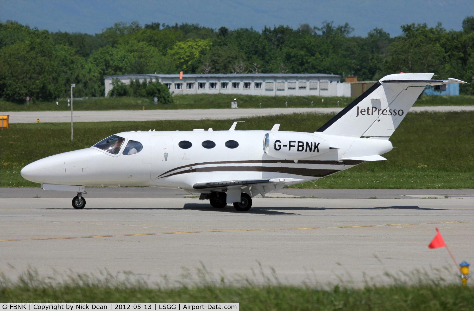 G-FBNK, 2008 Cessna 510 Citation Mustang Citation Mustang C/N 510-0067, LSGG/GVA EBACE 2012