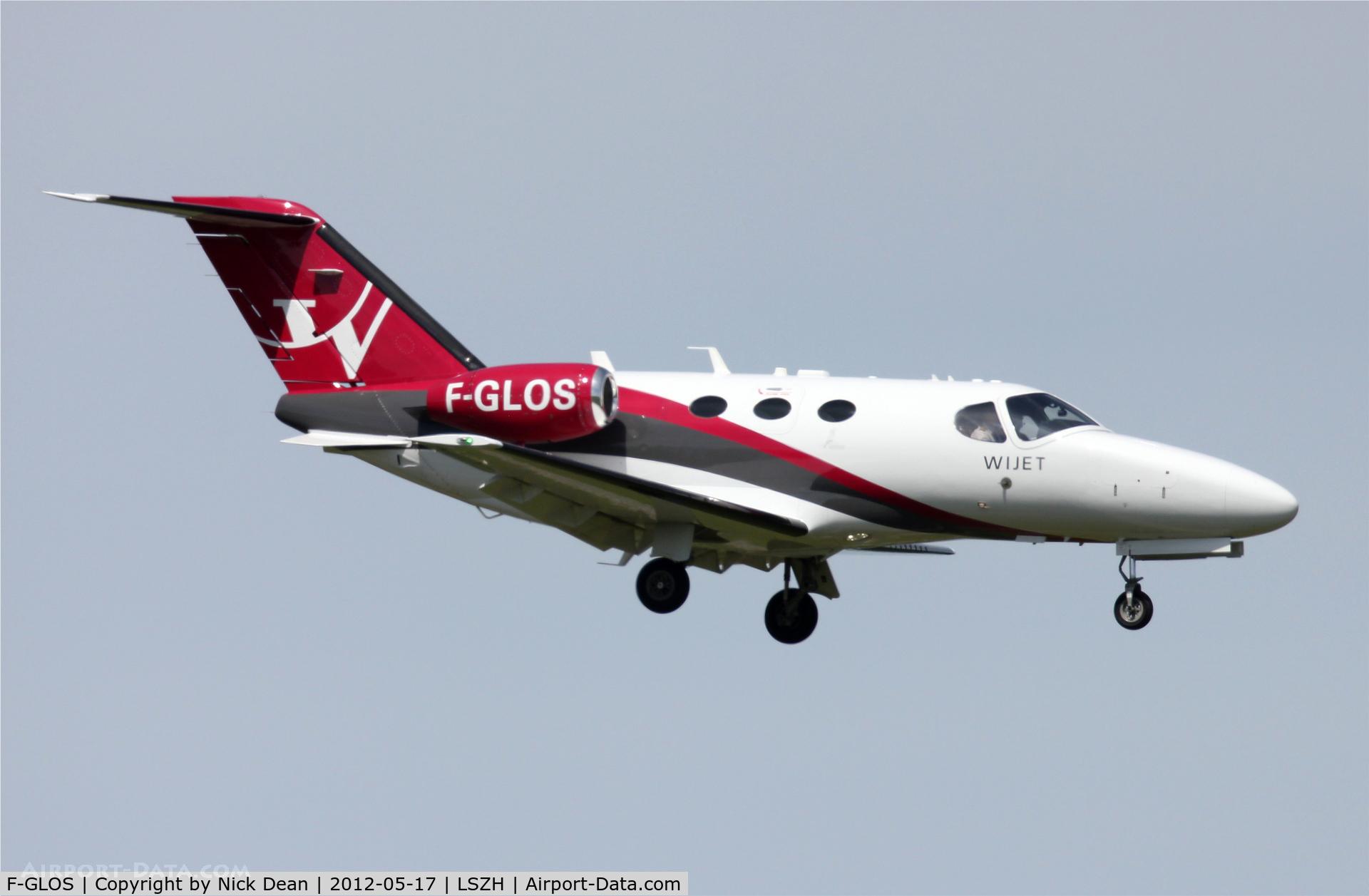 F-GLOS, 2009 Cessna 510 Citation Mustang Citation Mustang C/N 510-0169, LSZH/ZRH