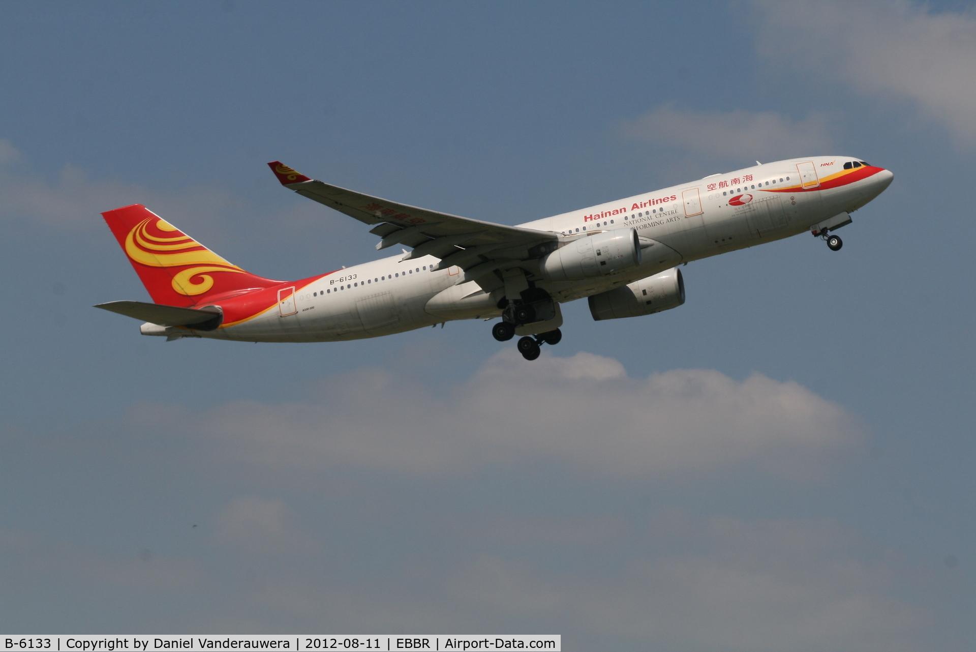 B-6133, 2009 Airbus A330-243 C/N 982, Flight HU492 is climbing from RWY 07R