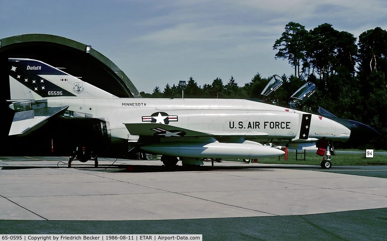 65-0595, 1965 McDonnell F-4D Phantom II C/N 1510, interim Air National Guard air defence force at Ramstein in 1986