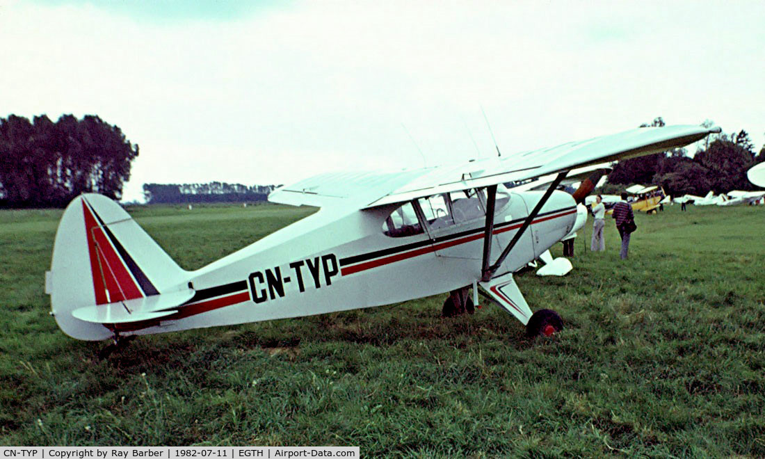 CN-TYP, 1952 Piper PA-20-135 Pacer Pacer C/N 20-802, Piper PA-20 Pacer [20-802] Old Warden~G 11/07/1982. Image taken from a slide.