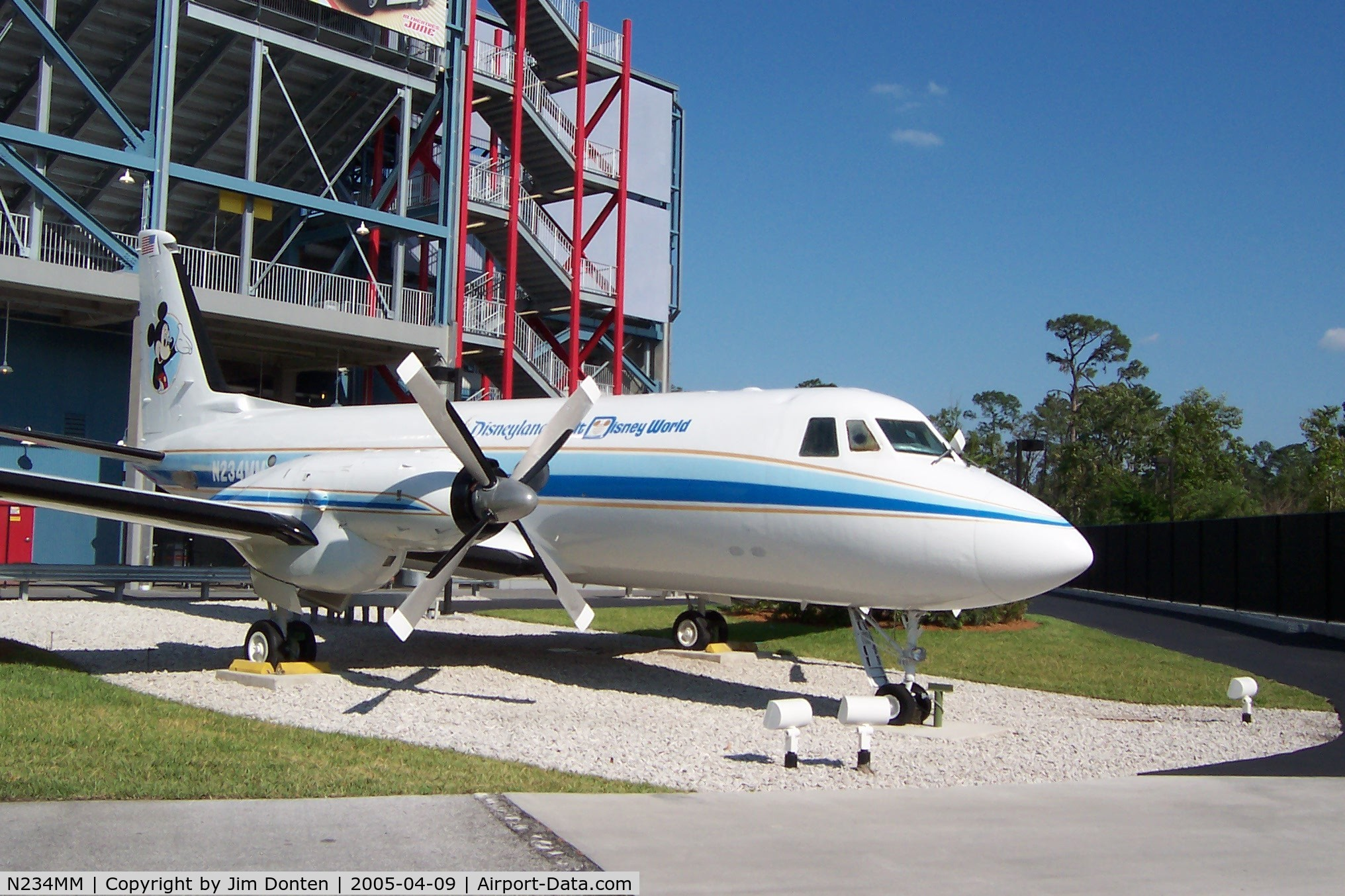 N234MM, 1963 Grumman G-159 Gulfstream 1 C/N 121, Walt Disney's personal jet on display at Disney Hollywood Studios