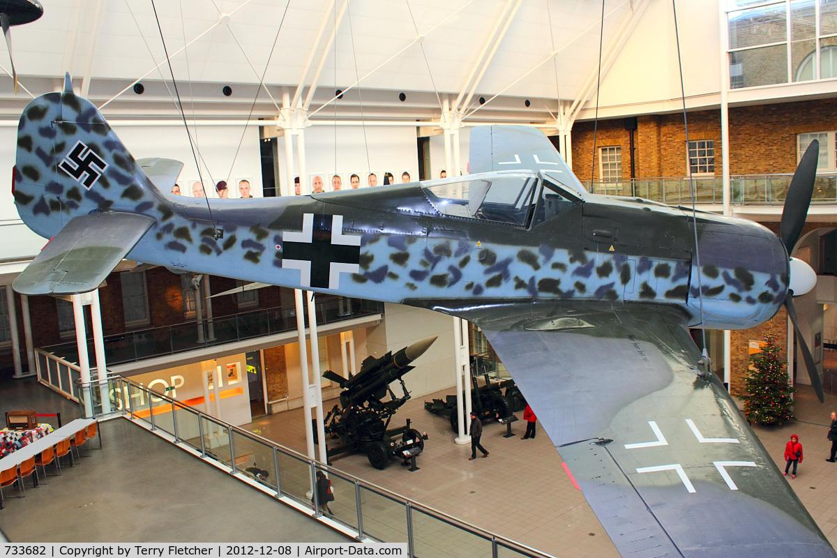 733682, 1944 Focke-Wulf Fw-190A-8 C/N 733682, 1944 Focke-Wulf Fw-190A-8, c/n: 733682 at IWM Lambeth