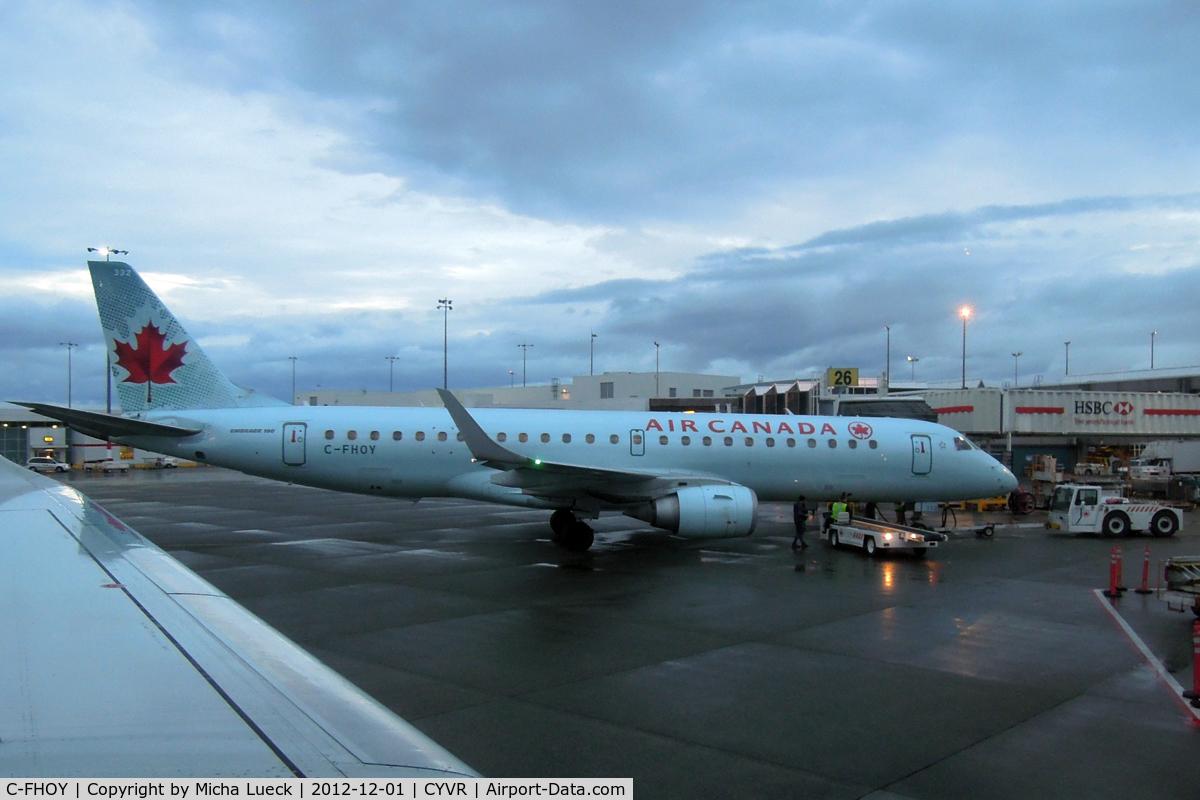 C-FHOY, 2007 Embraer 190AR (ERJ-190-100IGW) C/N 19000105, At Vancouver