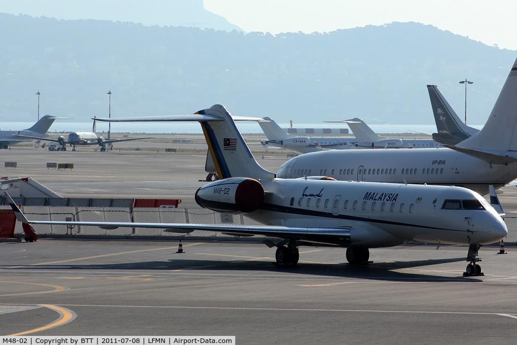 M48-02, 2001 Bombardier BD-700-1A10 Global Express C/N 9096, Royal Malysian Air Force