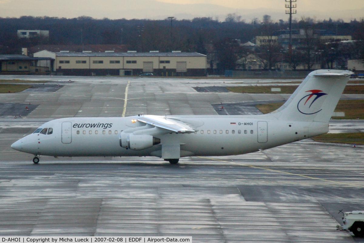 D-AHOI, 1990 British Aerospace BAe.146-300A C/N E3187, At Frankfurt