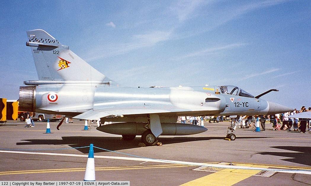 122, Dassault Mirage 2000C C/N 405, Dassault Mirage 2000C [405] (French AF) RAF Fairford~G 19/07/1997. Coded *12-YC*