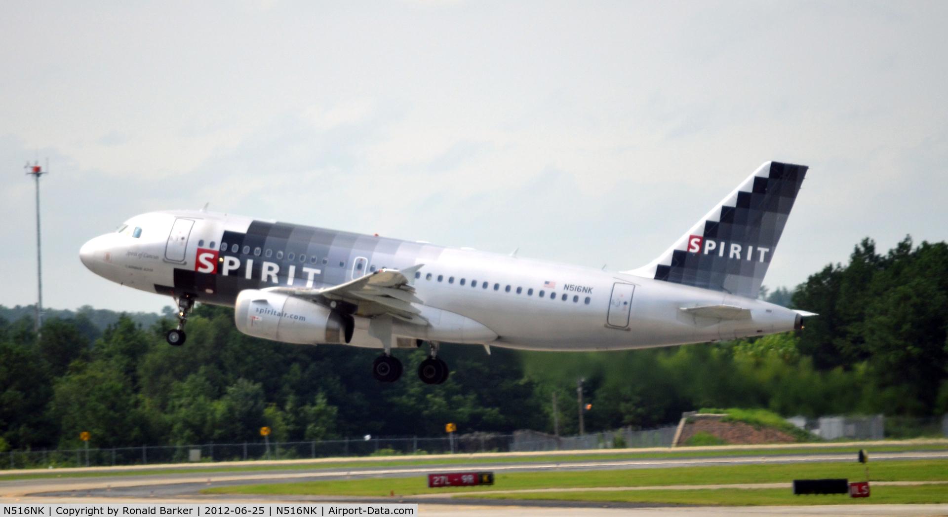 N516NK, 2006 Airbus A319-132 C/N 2704, Takeoff ATL