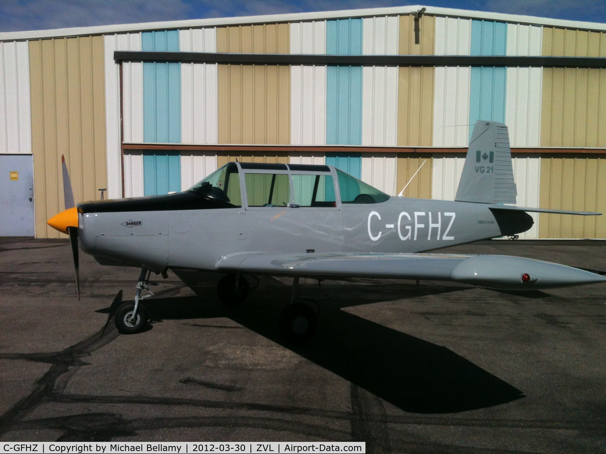 C-GFHZ, 1962 Morrisey 2150A C/N SP38, Photo taken at Villeneuve airport Alberta 2012
