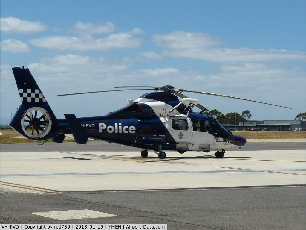 VH-PVD, 2009 Eurocopter AS-365N-3 Dauphin 2 C/N 6846, Police helicopter VH-PVD at the Essendon Base