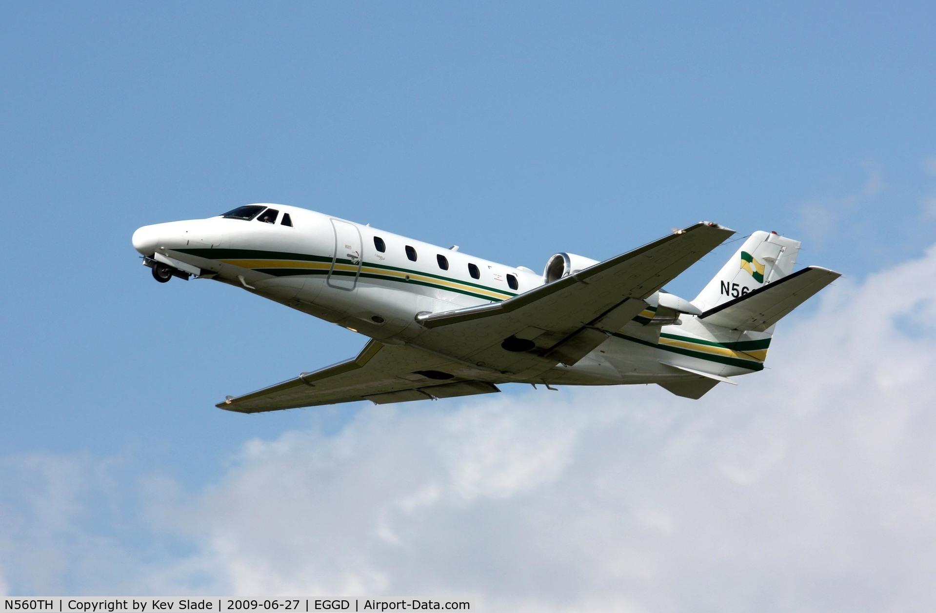 N560TH, 2001 Cessna 560XL Citation C/N 560-5215, Climbing out.