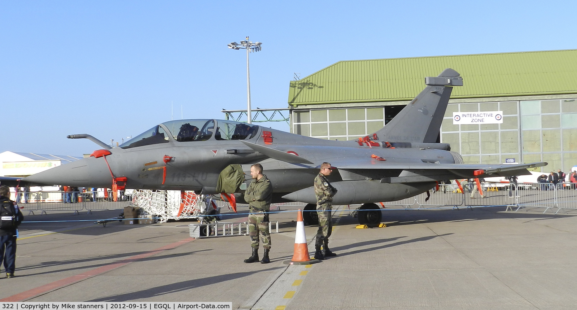 322, Dassault Rafale B C/N 322, EC1/7 Rafale B in the static display at Leuchars airshow 2012,first pic in the database